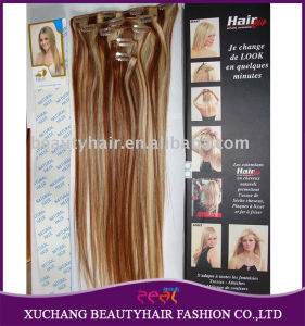 P12/613 Color 100% Human Natural Hair Clip in Hair Extensions pictures & photos