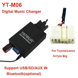 Yatour Digital Car Kit for Toyota/Lexus 5+7pin>USB/SD/Aux/Bluetooth Car Audio MP3 Player pictures & photos