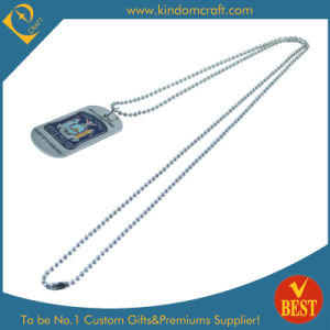 Cheap Iron Stamped with Color Infilled Dog Tag (LN-0166) pictures & photos