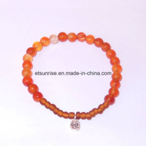 Semi Precious Stone Natural Crystal Carnelian Bead Bracelet pictures & photos