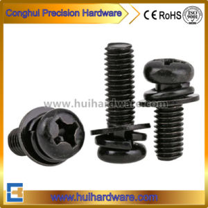 Wholesale High Quality Phillips-Head Sem Screws with Black Zinc Plated pictures & photos