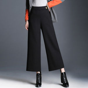 Casual Wide Leg Pants Women Fashion Loose High Waist Pants pictures & photos