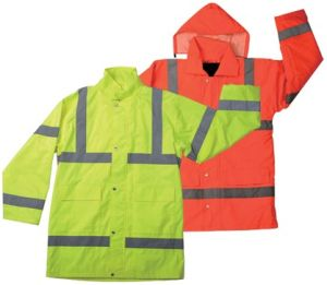 High Visibility Reflective Raincoat with Two Pocket Yg722 pictures & photos