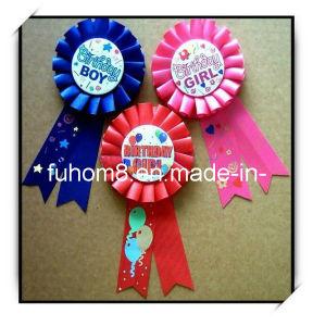 Custom Button Logo Award Ribbon Rosette pictures & photos