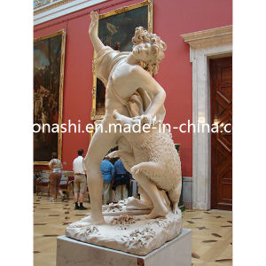 Marble Stone Carved Figure/Animal Sculpture with Male and Pig pictures & photos