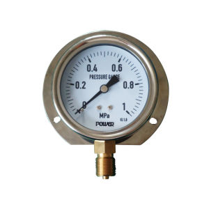 3inch-80mm Half Stainless Steel Bottom Liquid Filled Manometer with Flange pictures & photos
