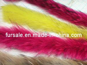 Fashion Style Ladies′ Raccoon Fur Trimming