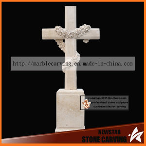 White Crossing Carving Tombstone Ts007 pictures & photos