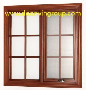 Double Glazing Aluminum Wood Windows, American Casement Style Solid Wood Aluminum Casement Windows pictures & photos