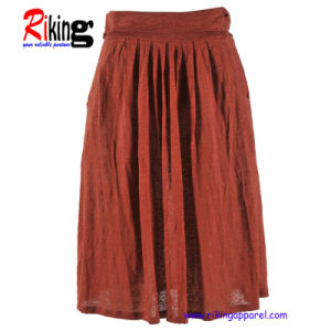 Fashion Ladies Linen Skirt (RKS1309)