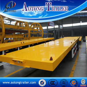 China Supplier 40FT Flatbed Container Trailer with Twist Lock pictures & photos