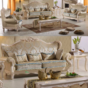 Luxury Fabric Sofa with Wood Table for Living Room Furniture (992D) pictures & photos