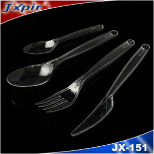 3 in 1 Plastic Cutlery Set with Napkin / Plastic Spoon Fork Knife pictures & photos