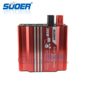 Suoer 300W 24V 220V MPPT Inverter Solar Power System Inverter (GTI-D300B) pictures & photos