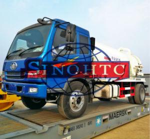 10m3 sewage suction truck, 4X2 vacuum sewage suction truck pictures & photos