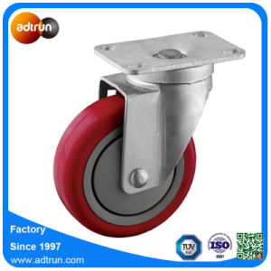 Medium Duty 4 Inch PU Swivel Casters pictures & photos