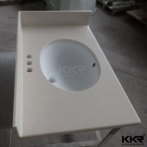 Artificial Stone White Acrylic Solid Surface Vanity Top pictures & photos