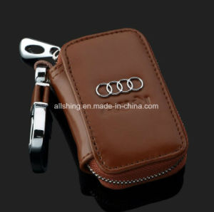 Leather Key Wallet -Premium Zipper Genuine Leather Car Keychain pictures & photos