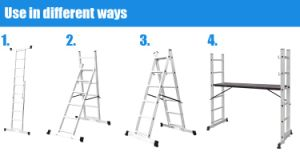 Double Side Type Telescopic Scaffolding Ladder pictures & photos