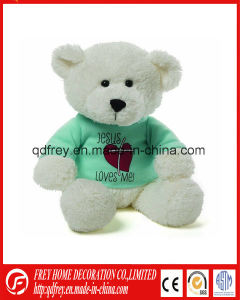 Fluffy Long Hair Teddy Bear Toy with Ribbon pictures & photos