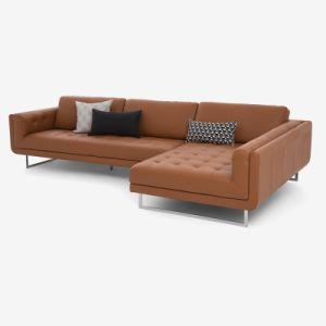 Modern Livingroom Sofa with Leather Sectional Recliner Sofa (L039) pictures & photos
