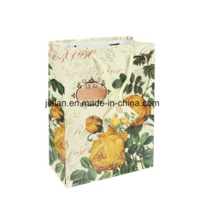 Unique Flower Design Yellow Gift Bags Promotion Tote Gift Bags pictures & photos