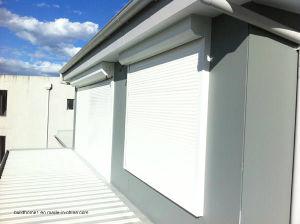 Top Mounted Brown Powder Coat Aluminium Exterior Roller Window Shutters pictures & photos