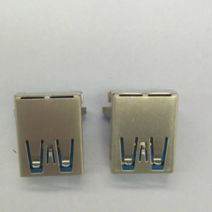 USB 3.0 A/F 90° DIP Blue pictures & photos