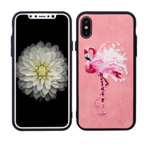 Luxury Flamingo Pattern Embroidery Phone Case for iPhone 6/7/X/8/8plus pictures & photos