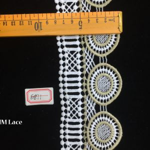 8cm Lovely Geometry Circle Elastic Lace Trim, Solid Lace Fabric Hme871 pictures & photos