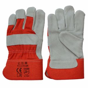 Cow Split Leather Working Hand Gloves From Manafacturer pictures & photos