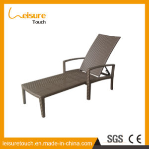 Outdoor Garden Patio Pool Furniture Rattan Wavy Shape Deck Chair Wicker Lying Rattan Lounge pictures & photos