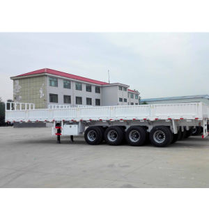 China 4 Axles 70 Tons Cargo Trailer with Lift Axle pictures & photos