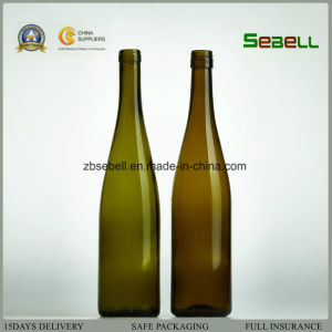 Antique Green Glass Wine Bottle, Hoch Wine Bottle 750ml (NA-011) pictures & photos