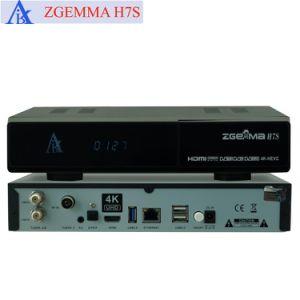 Multistream 4k Uhd Kodi Ultra Arm CPU TV Box Zgemma H7s Dual Core Hevc/H. 265 2*DVB-S2/S2X + DVB-T2/C Three Tuners pictures & photos