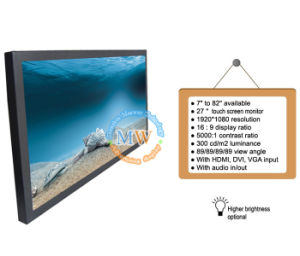 Wide Screen 27 Inch Multi Touch Panel with USB HDMI DVI VGA Input (MW-271MBT) pictures & photos