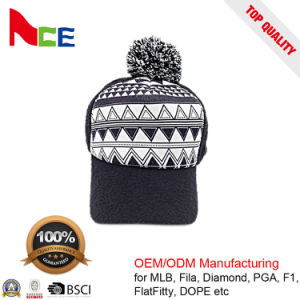 Fashion Keep Warm Pompom Beautiful Winter Beanie Knitted Hat pictures & photos