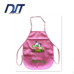 Pink Waterproof Apron for Kids/Logo Printed Waist Child Apron