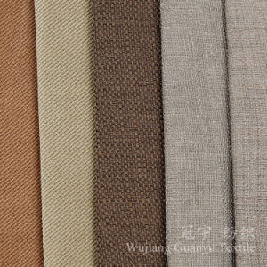 Colorful Linen 100% Polyester Cationic Sofa Fabrics pictures & photos