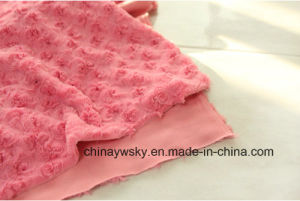 P/D Brushing Flower PV Fabric /PV Fleece/PV Plush Fleece pictures & photos