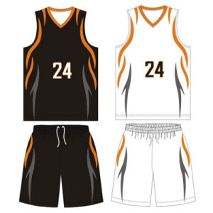 Custom Design Sublimated Basketball Tops for Teams pictures & photos