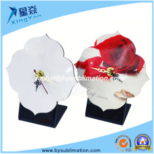 Flower Shape Sublimation MDF Clock with Pointer pictures & photos