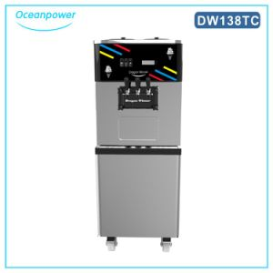 Oceanpower Op138CS Soft Ice Cream Maker, 3 Flavor Soft Ice Cream Machine with Pre-Cooling pictures & photos