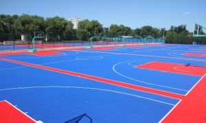 2017 New Product with High Quality PP and PVC Interlock Floor for Indoor/Outdoor Sports Ground pictures & photos