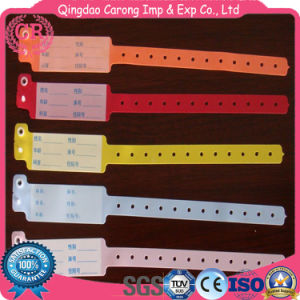 Hospital ID Wristbands Soft PVC Band for Patients pictures & photos