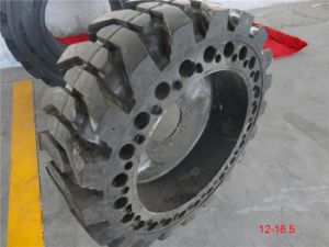 Skid Steer Loader Tires 12.00-20 10-16.5, 12-16.5 Solid Tire, Industral, Loader Tire, OTR Tire pictures & photos