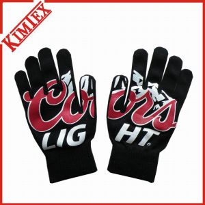 100% Acrylic Promotion Magic Printing Knitted Glove pictures & photos