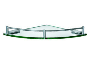 Bathroom Corner Aluminum Glass Shelf (ZW-520A) pictures & photos