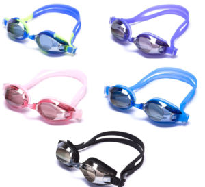 2015 Newest PC Lenses Anti-Fog Silicon Swim Spectacles pictures & photos