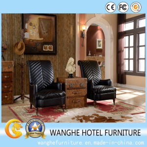 Leather Antique Black Chair Furniture Living Room Chair pictures & photos
